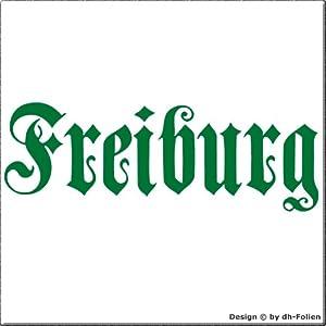 cartattoo4you AH-00662 | FREIBURG - Fraktur / Altdeutsche Schrift | Autoaufkleber Aufkleber FARBE grün , in 23 weiteren Farben erhältlich , glänzend 57 x 20 cm in PREMIUM - Qualität Waschstrassenfest VERSANDKOSTENFREI
