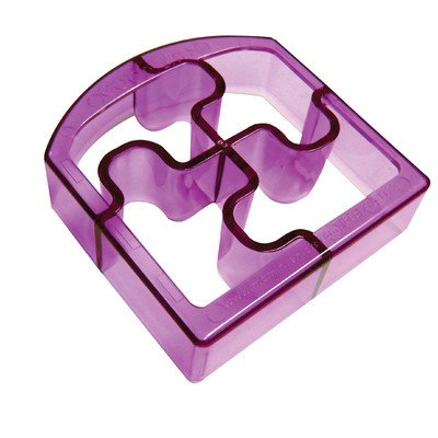 Ginsey Sandwich Cutters Puzzle Bites Translucent in Purple *NEW* (Crustless Sandwich Cutter compare prices)