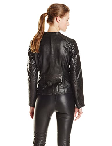 Marc New York by Andrew Marc Women's Mae Leather Moto Jacket kate spade new york сумка на руку