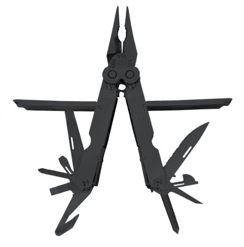 Sog Specialty Knives & Tools B69N-Cp Powerlock Eod 2.0 Fuzewell Spike Multi-Tool With Rotating Blade And Nylon Sheath, 15-Tools Combined, Black Finish front-790976