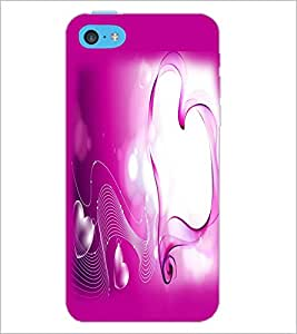 PrintDhaba Heart D-2161 Back Case Cover for APPLE IPHONE 5C (Multi-Coloured)