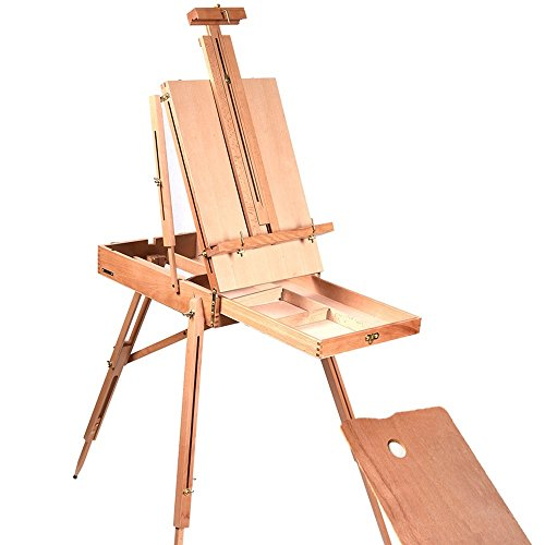 french-easel-sketch-box-portable-wooden-folding-durable-artist-painters-tripod