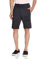 People Men's Synthetic Shorts (8907496097823_P10101079400100_32_Black Melange)