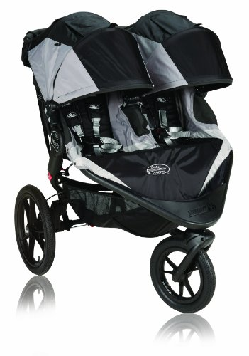 Baby Jogger Summit X3 Double Stroller, Black front-859142
