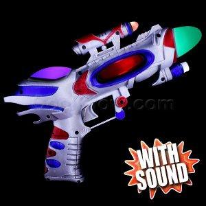 LED Spinning Spaceman Gun - 1