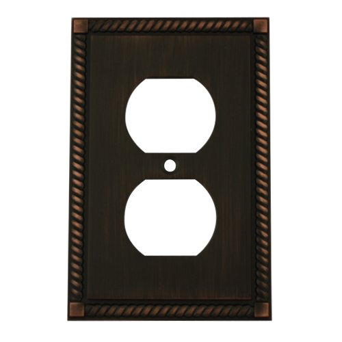 Cosmas 88033-Orb Oil Rubbed Bronze Single Duplex Electrical Outlet Wall Plate / Cover