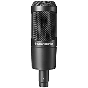 Audio Technica AT2035 Large Diphragm Condenser Microphone w/Shock Mount, Pop Filter, Mic Cable, and Mic Stand by Audio Technica