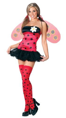 Adult Womens Lady Bug Costume Size S/Med (2-8)