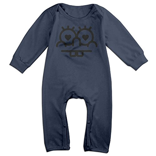 Love Eyes And Teeth 100% Cotton Long Sleeves Variety Baby Onesies Body Suits For Toddler Navy Size 6 (Baby Jack Jack From The Incredibles)
