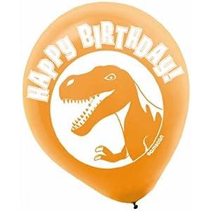 Prehistoric Dinosaur Party Printed Latex Balloons - 6 ct by Amscan