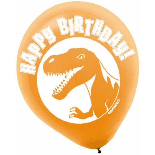 Prehistoric Dinosaur Party Printed Latex Balloons - 6 ct