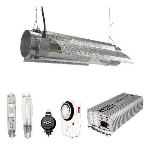 Virtual Sun 600W Hps Mh Grow Light Tube Reflector Hood Digital Kit - Dimmable