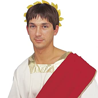 Std Adult Ceasar Brown Roman Wig (Headpiece not included)