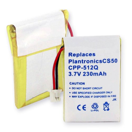 Plantronics Cs351N Cordless Phone Battery Replacement Battery For Plantronics Wireless Headset. Also Fits: Plantronics Cs50 Li-Pol 230Mah. Replaces: Plantronics 6432701,Plantronics 6439901,Plantronics 6535801,Plantronics Awh55, Plantronics Cs351,Plantroni