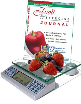 EatSmart Digital Nutrition Scale with Calorie King Food & Exercise Journal (Paperback)