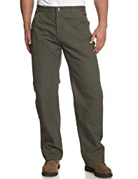 Carhartt Men's Double Front Work Dungaree Washed Duck,Moss,28 x 32
