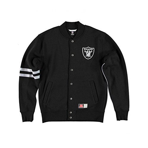Giacca  Majestic - Nfl Emodin Fleece Letterman Oakland Raiders nero formato: S (Small)