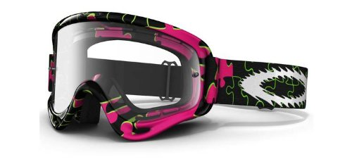 Oakley Oakley MX XS O Frame Goggles with Clear Lens Pink Puzzled