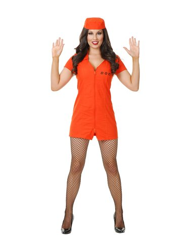 Charades Llc Women's Department Of Corrections Bad Girl Costume