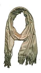 Lightweight Hand Woven Cotton Scarf - Dark Olive