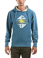 Hot Buttered Sudadera con Capucha Linear (Azul)