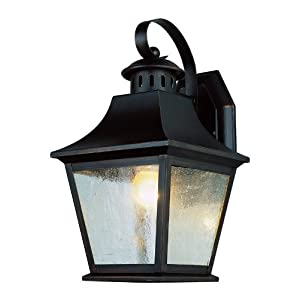 Click to buy Outdoor Wall Lighting: Trans Globe Lighting 4872 AN 13-Inch 1-Light Outdoor Medium Wall Lantern, Antique Nickel from Amazon!