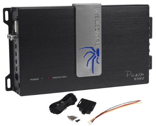 Soundstream Picasso Nano Series Pn1.450D 900 Watts Peak/450 Watts Rms Monoblock Class D Motorcycle Amplifier With Remote Gain Control