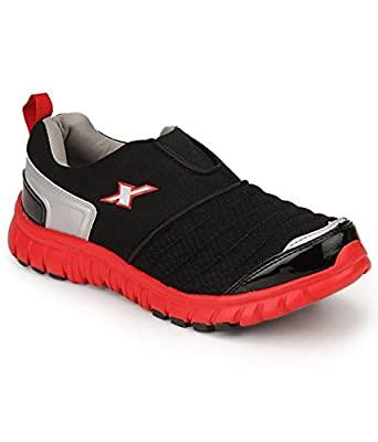 Sparx Men's Black and Red Running Shoes (SM-201)