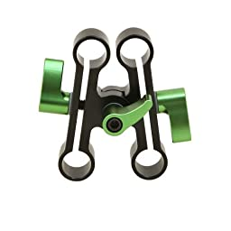 Lanparte Adjustable Height Raise Clamp Ahrc-01 for 15mm Rod Camcorder Camera
