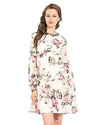 Printed Polyester Skater Dress Large