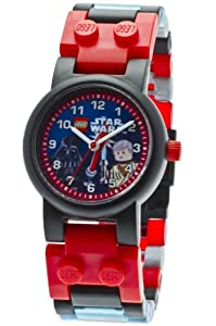 Lego Star Wars Darth Vader, Obi-Wan Children's Minifigures Quartz Watch with Black Dial Analogue Display and Multicolour Plastic Strap 9001192
