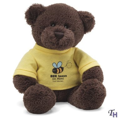 Gund Let God Work In Bee T-shirt Plush Bear