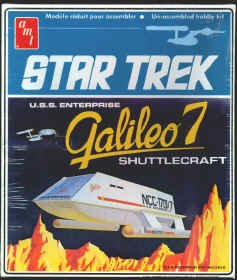 1974 Vintage Star Trek Amt Model Kit Galileo 7 Seven Shuttlecraft