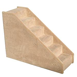 Amazon 6 Step Tiny Steps Beige Pet Stairs for