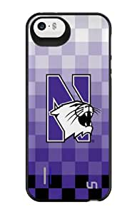 Uncommon LLC Northwestern University Pixel Stripe Power Gallery Battery Charging Case for iPhone 5/5S - Other Chargers - Retail Packaging - White/Purple/Black