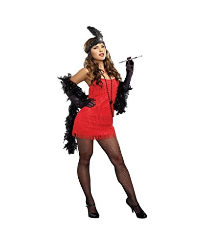 Roaring Red Flapper 1920s Gatsby 20s Plus size Womens Costume