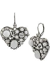 Betsey Johnson Something New Heart Drop Earrings