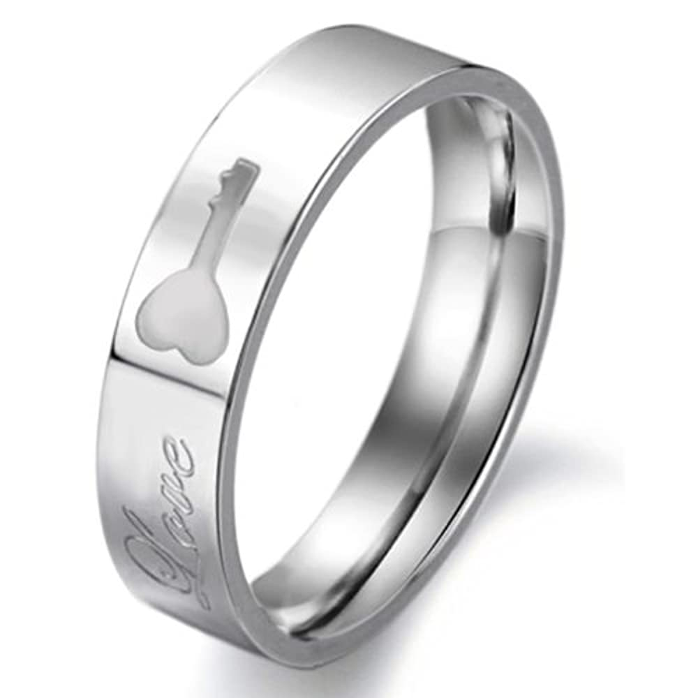 stainless steel wedding ring promise quot quot key to