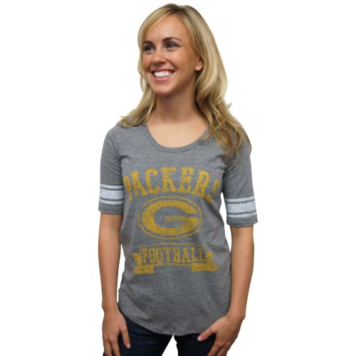 Nfl Green Bay Packers Vintage Triblend Short Sleeve Crew