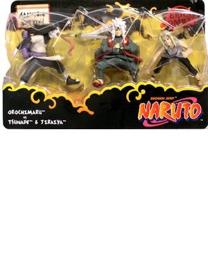Picture of Mattel Naruto Battle Packs Sannin Battle Action Figure Multi-Pack (B000WN5KWS) (Naruto Action Figures)