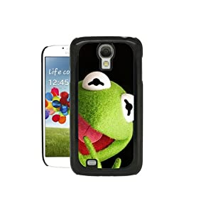 SAMSUNG GALXY S4 i9500 CASE - THE MUPPETS - KERMIT COVER & SCREEN PROTECTOR - BLACK