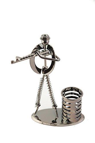 Figur-aus-Stahl-Querflte-Stahlfigur-14-x-24-cm-praktische-Stiftebox-Ordnung-Schreibtisch-Musik-Musikinstrument-Geschenk-Bro-Arbeit-Box-fr-Stifte-Schreibtischdeko-Dekoration-frs-Bro-Musikbegeisterte