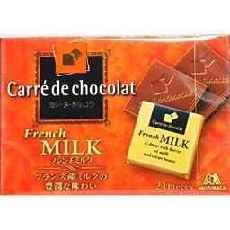 Morinaga Japan Carre\' de Chocolat <French milk> 21 pieces x 6 boxes