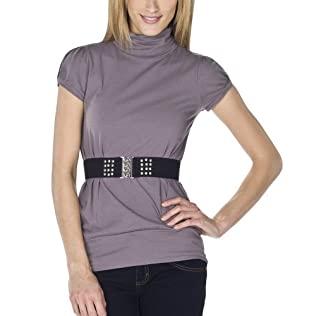 Self Esteem Mock Next Tunic with Belt
