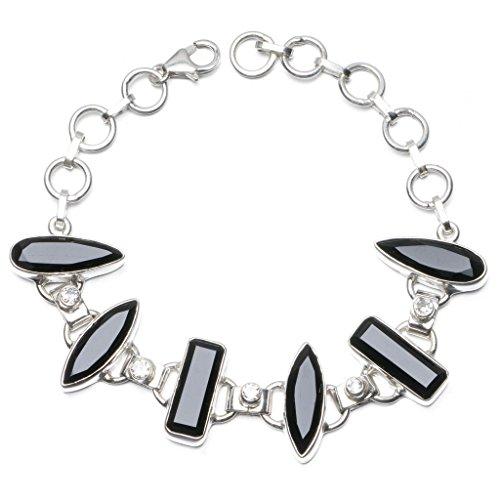 stargems-tm-naturale-nero-onice-e-topazio-bianco-braccialetto-in-argento-sterling-925-6-7-3-4-