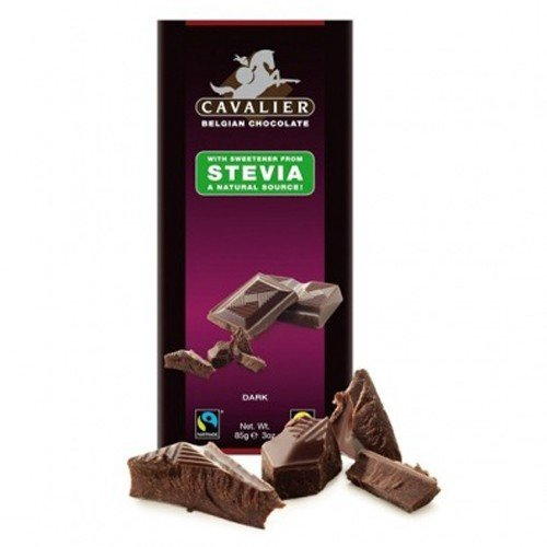 Cavalier - Belgian Dark Choc with Stevia | 85g (Stevia Hazelnut Chocolate compare prices)