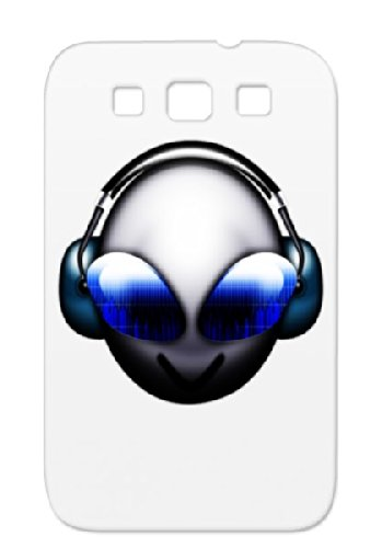 Shock-Absorbent Headset Sunglasses Funny Miscellaneous Funny Skull Headphone Alien Dj Daftpunk Face Ufo For Sumsang Galaxy S3 White Case Cover