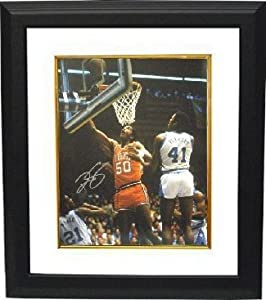 Ralph Sampson signed Virginia Cavaliers 16x20 Photo Custom Framed (Lay-up vs UNC)