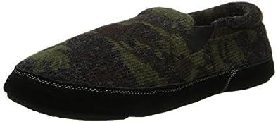 ACORN Men's Fave Gore Wide Slipper,Camo Tweed,Small/7.5-8.5 W US