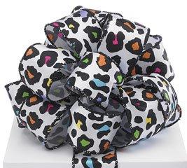 "Sassy Safari Multicolored Cheetah Print #9 Wired Ribbon 1.5"" X 20 Yards"